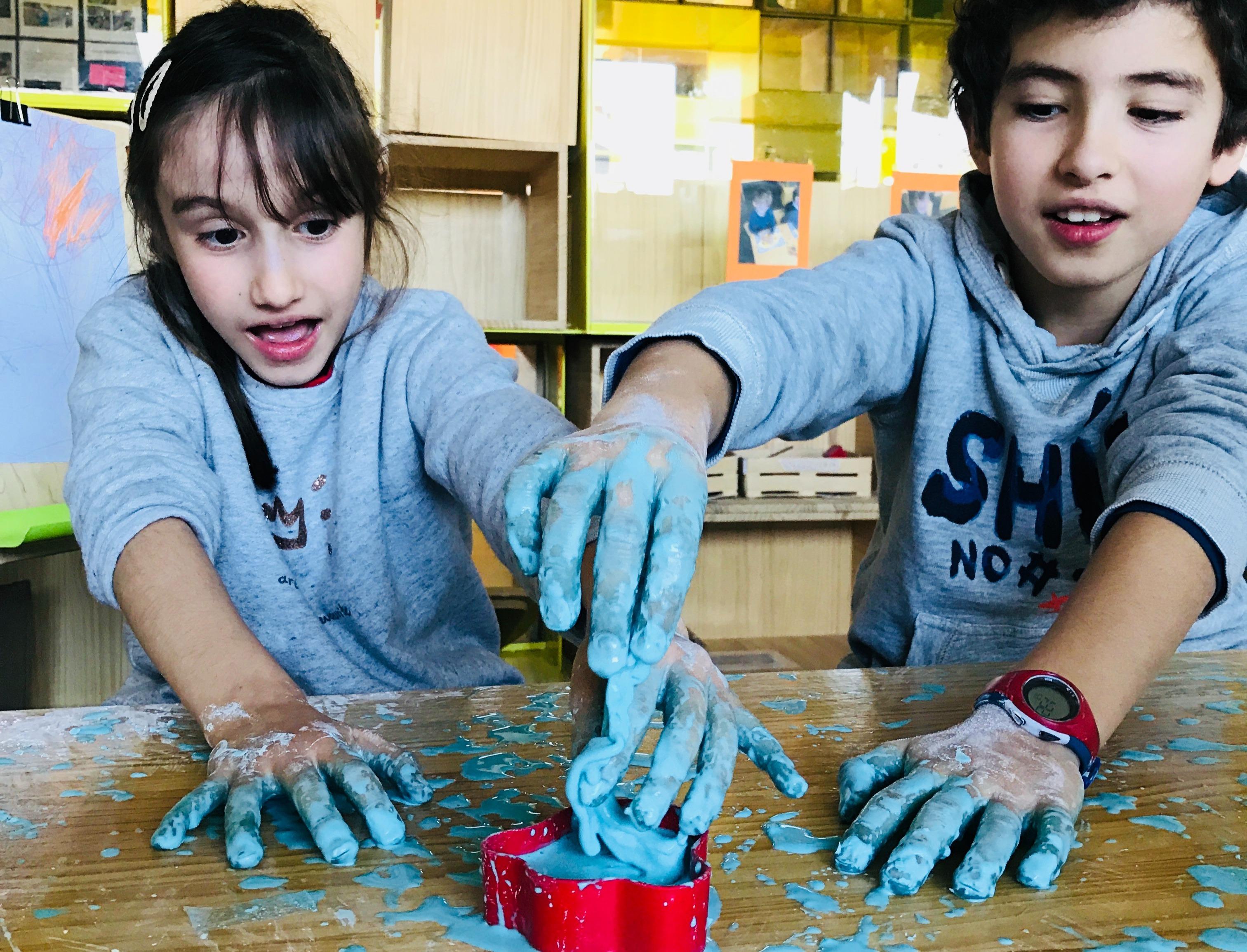 camp oobleck actividad sensorial niños inglés